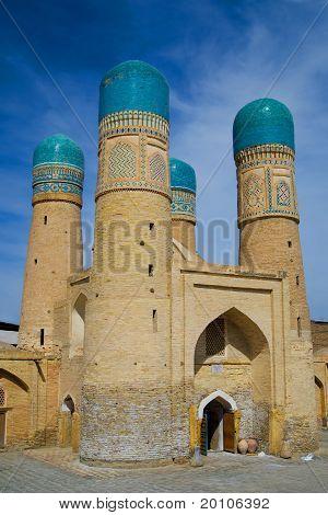 Chor Minor Madrassah In Bukhara