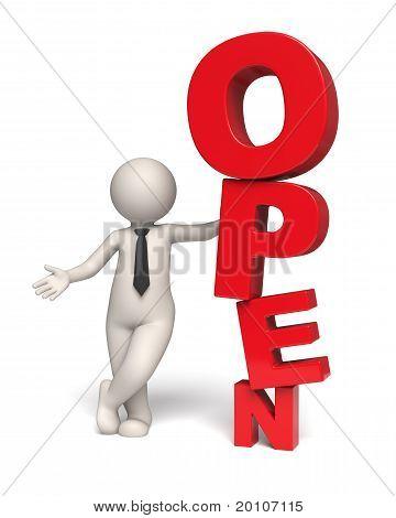 Open Text Icon