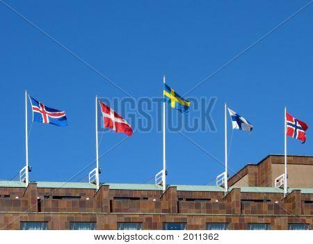 Nordische Flaggen