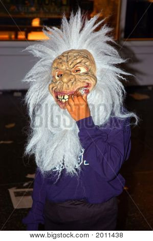 Kid With Halloween Mask