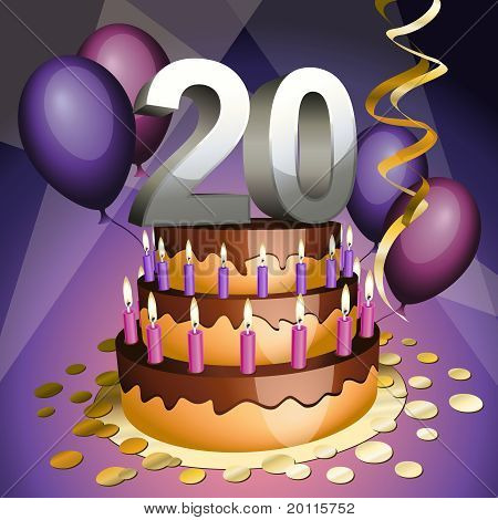 Twentieth Anniversary Cake