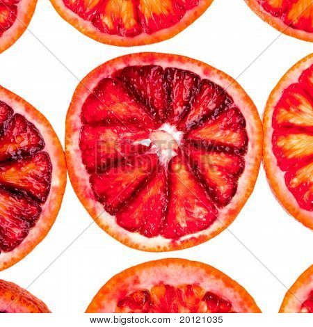 few sliced blood orange