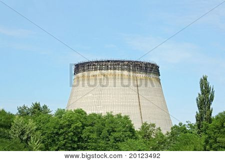 Water cooling towers of Chernobyl nuclear power plant