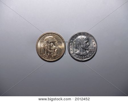 John Adams And Susan B Anthony Dollar Coins
