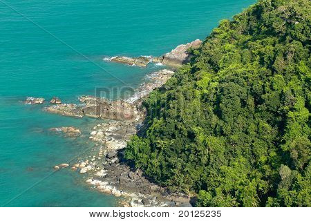 Tropical Island Coastline
