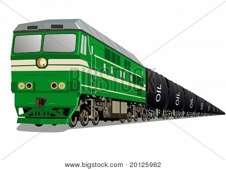 Locomotive with oil