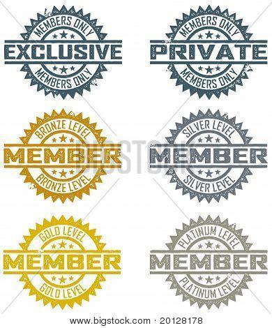 Vector miembro sellos