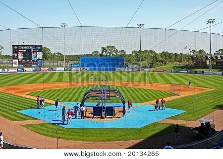 PORT ST. LUCIE, FLORIDA - MARCH 24: Formerly known as Tradition Field, the ballpark announced its new name will be Digital Domain Park on March 24, 2010 in Port St. Lucie, Fla.