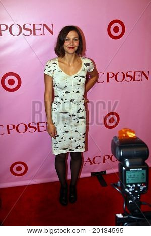 NEW YORK - APRIL 15: Actress Maggie Gyllenhaal attends the Zac Posen for Target Collection launch party at the New Yorker Hotel on April 15, 2010 in New York City.