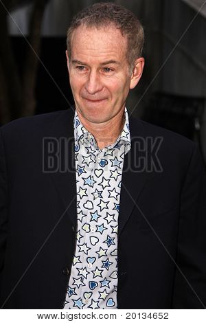 NEW YORK - APRIL 20: Tennis star John McEnroe arrives at New York State Supreme Court for the Vanity Fair Party during the 2010 Tribeca Film Festival on April 20, 2010 in New York City.