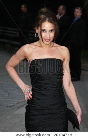 NEW YORK - APRIL 20: Marisol Thomas arrives at New York State Supreme Court for the Vanity Fair party during the 2010 TriBeCa Film Festival on April 20, 2010 in New York City.