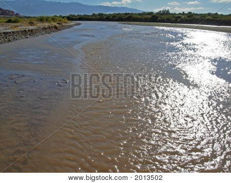 Wide River In The Cafayate Valley, Salta, Argentina