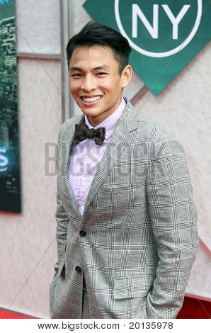 "NEW YORK - JULY 6: Actor Gregory Woo attends the premiere of ""The Sorcerer's Apprentice"" at the New Amsterdam Theatre on July 6, 2010 in New York City."