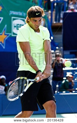 FLUSHING, NY - AUGUST 28: Tennis pro Rafael Nadal of Spain attends Arthur Ashe Kids' Day at the Billie Jean King National Tennis Center on August 28, 2010 in Flushing, New York.
