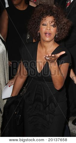 NEW YORK - SEPTEMBER 30: Singer Whitney Houston attends the Keep A Child Alive's Black Ball hosted by Alicia Keys at the Hammerstein Ballroom on September 30, 2010 in New York City.