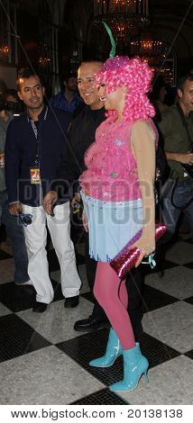 NEW YORK - OCTOBER 29: Tommy Mottola and wife Thalia attend the 15th Annual Bette Midler's New York Restoration Project's Hulaween at the Waldorf-Astoria Hotel on October 29, 2010 in New York City.