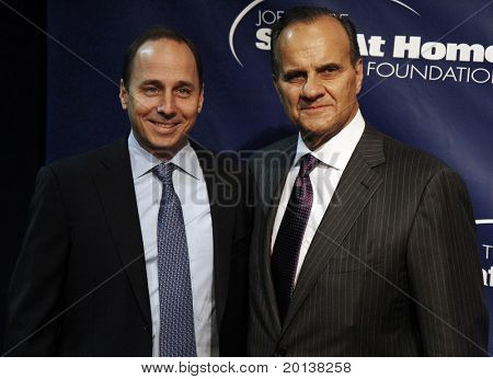 NEW YORK - NOV 11: Brian Cashman and Joe Torre attends the 8th Annual Joe Torre Safe at Home Foundation Gala at Pier Sixty at Chelsea Piers on November 11, 2010 in New York City.