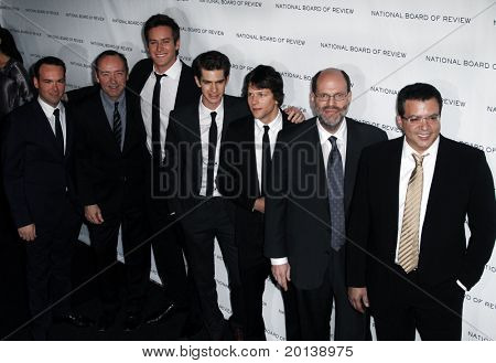 NEW YORK - JAN 11: Dana Brunetti, Kevin Spacey, Armie Hammer, Andrew Garfield, Jesse Eisenberg attend National Board of Review of Motion Pictures at Cipriani on January 11, 2011 in New York City.