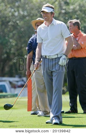 ORLANDO, FL - MARCH 23: Joe Don Rooney from Rascal Flatts during practice round at the Arnold Palmer Invitational Golf Tournament on March 23, 2011 at the Bay Hill Club and Lodge in Orlando, Florida.