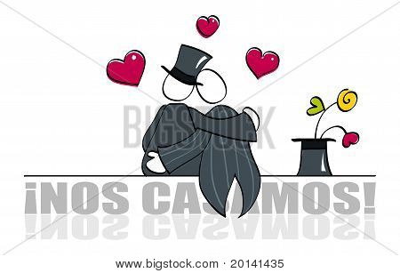 Funny gay wedding card