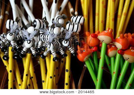 Bunte lustige Tier Bleistifte