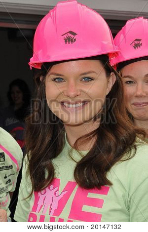 LOS ANGELES - MAY 14:  Heather Tom at the Habitat for Humanity Women's Empowerment Build at Carl Street on May 14, 2011 in Pacoima, CA