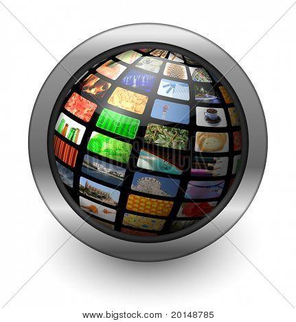 multimedia sphere button
