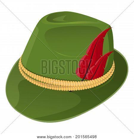 Bavaria Hat. Stock vector. Isolated white background