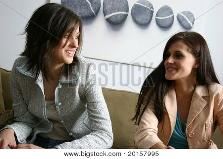 Networking two girls talking