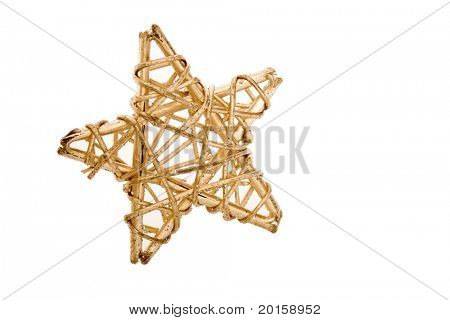 christmas star made of wood