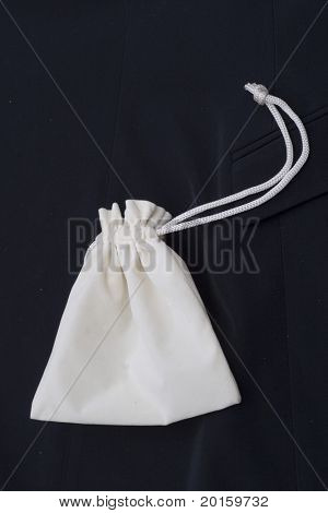 bag with a drawstring