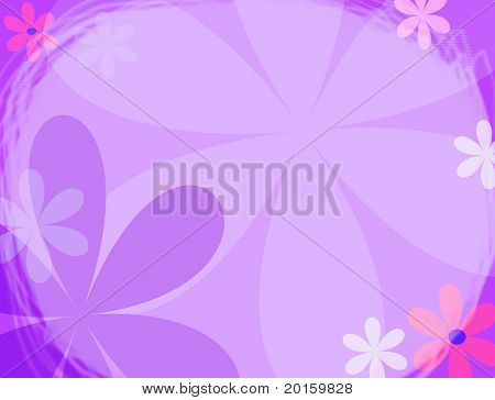 modern flower background with vintage twist