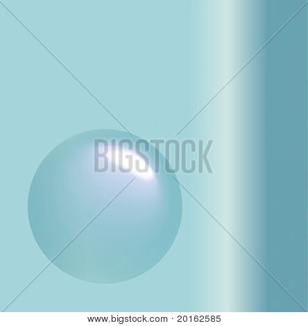 floating bubble on teal gradient