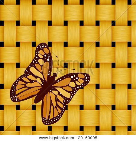 monarch butterfly on woven background