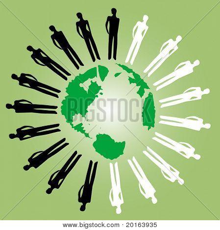 people around a world
