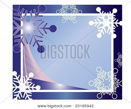 christmas frame with netting