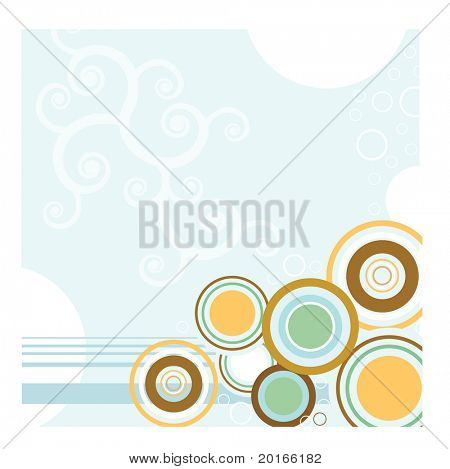 bubble background with stripes and spiral