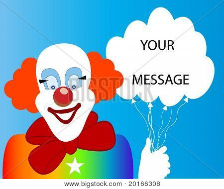 clown  room for message