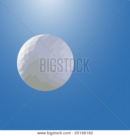 golfball flying through the air
