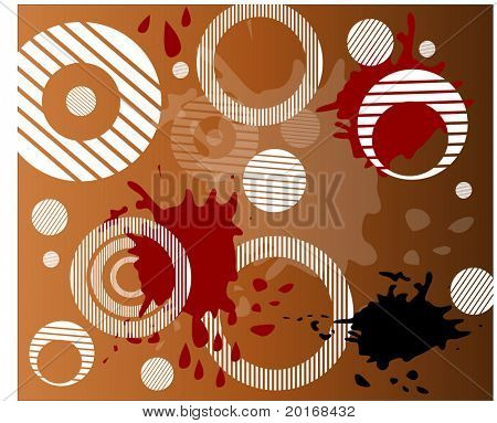 funky striped circles with grunge series