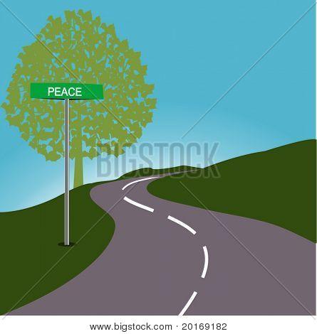 Roadsign PEACE
