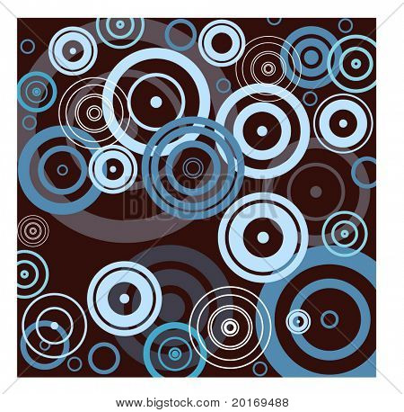 circles blue on brown vector