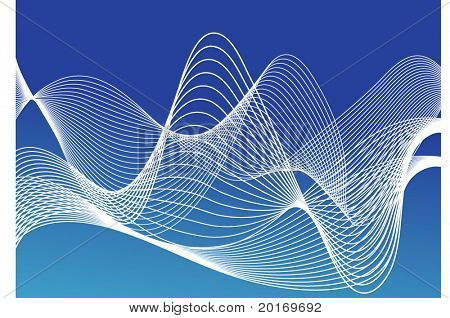 netting over blue vector