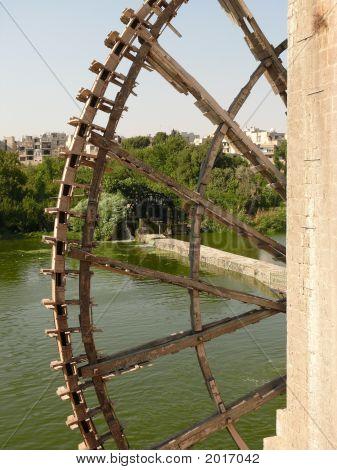 Norias, Wooden Water Wheels, Halab, Hama, Syria
