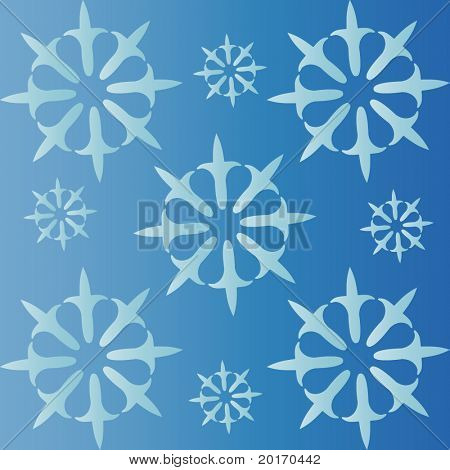 funky shape pattern background seamless vector (blue and white)