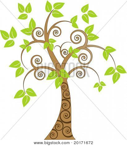 funky coil tree vector