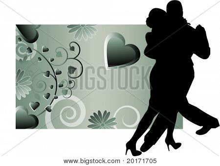 romantic tango dancers vector
