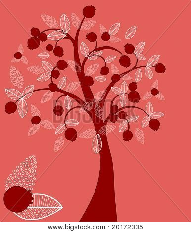 berry tree change colors easily vector