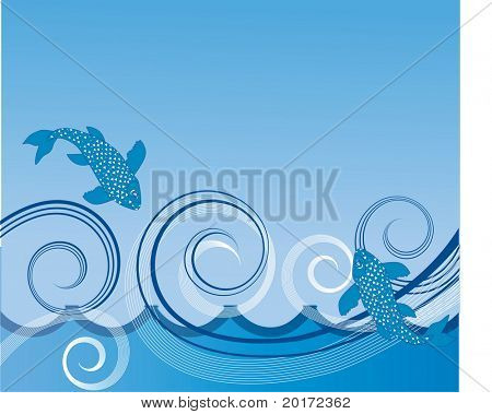 winds on the ocean vector