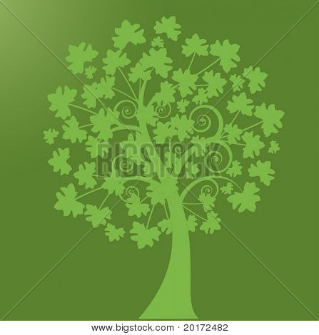 leaftree with coils vector